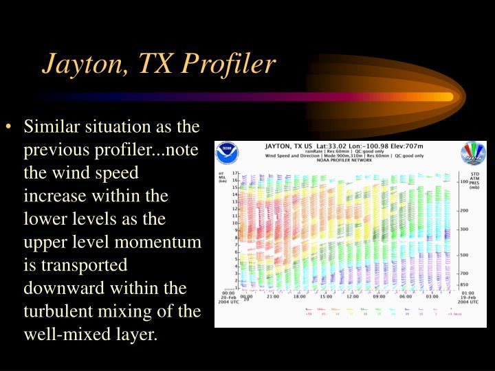 Jayton, TX Profiler