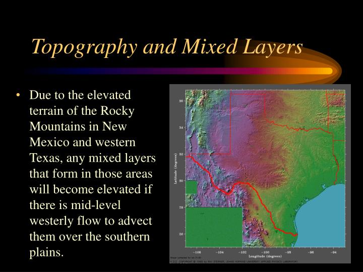 Topography and Mixed Layers