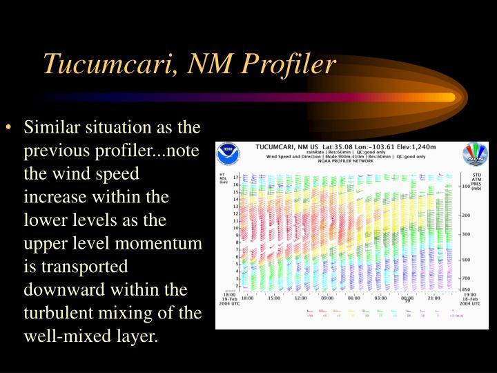 Tucumcari, NM Profiler