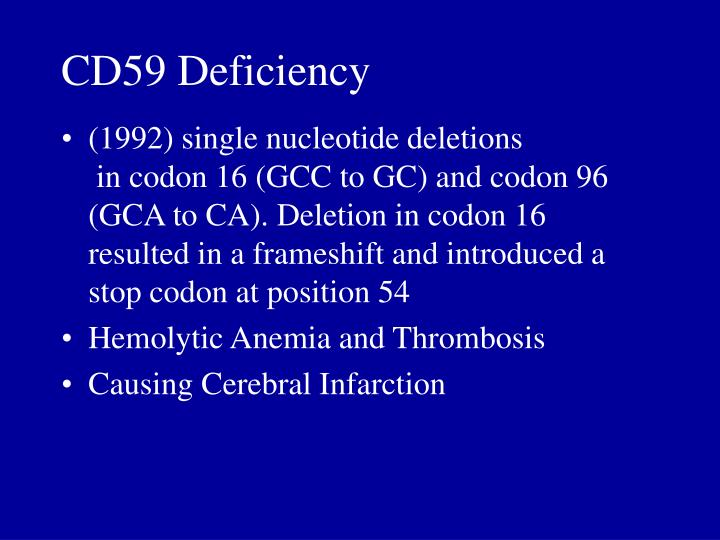 CD59 Deficiency