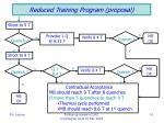 reduced training program proposal