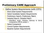 preliminary care approach3