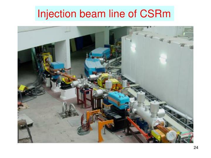 Injection beam line of CSRm