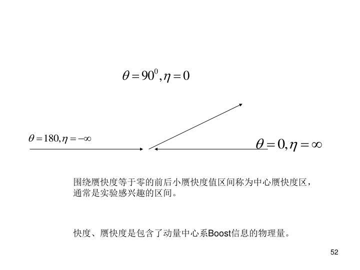 围绕赝快度等于零的前后小赝快度值区间称为中心赝快度区,