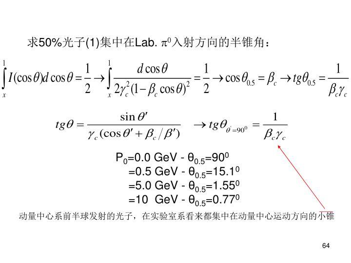 求50%光子(1)集中在Lab.