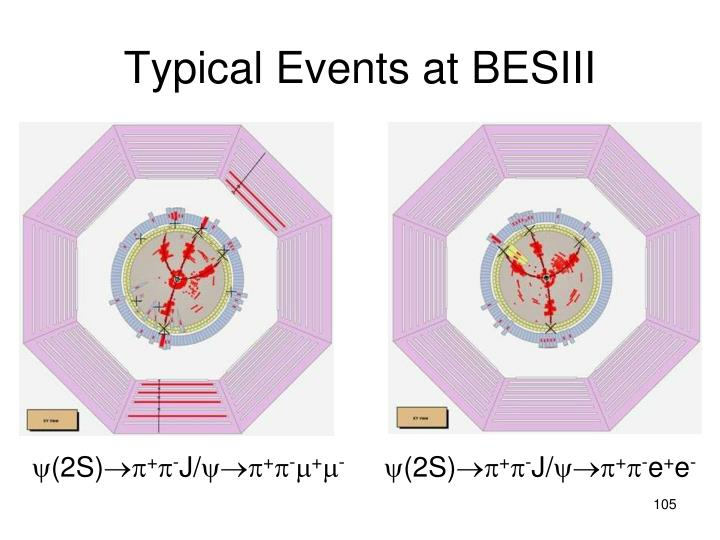 Typical Events at BESIII