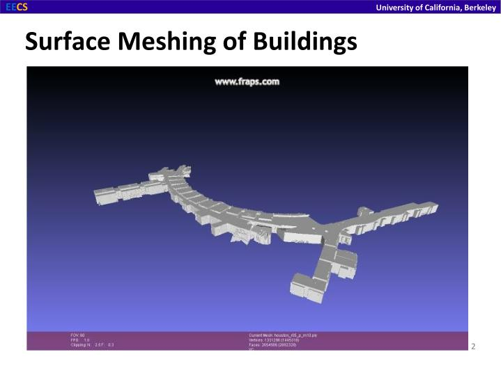 Surface meshing of buildings