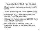 recently submitted flux studies