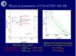 physical parameters of uscoctio 108 ab