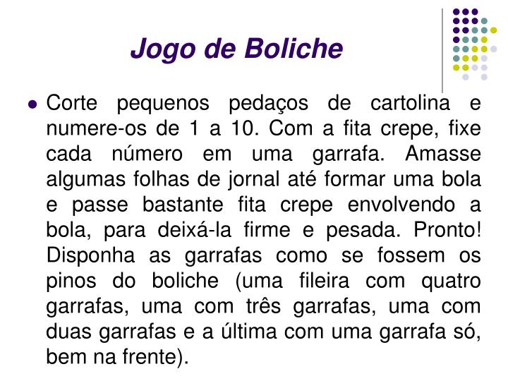 Jogo de Boliche