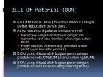 bill of material bom