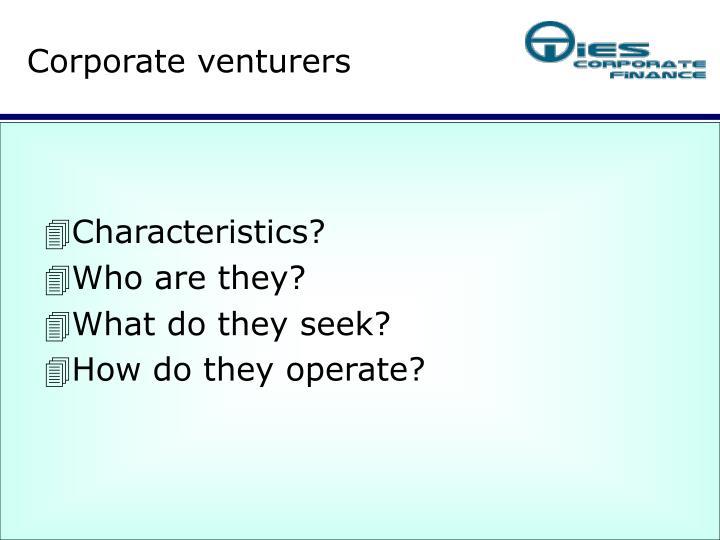 Corporate venturers1