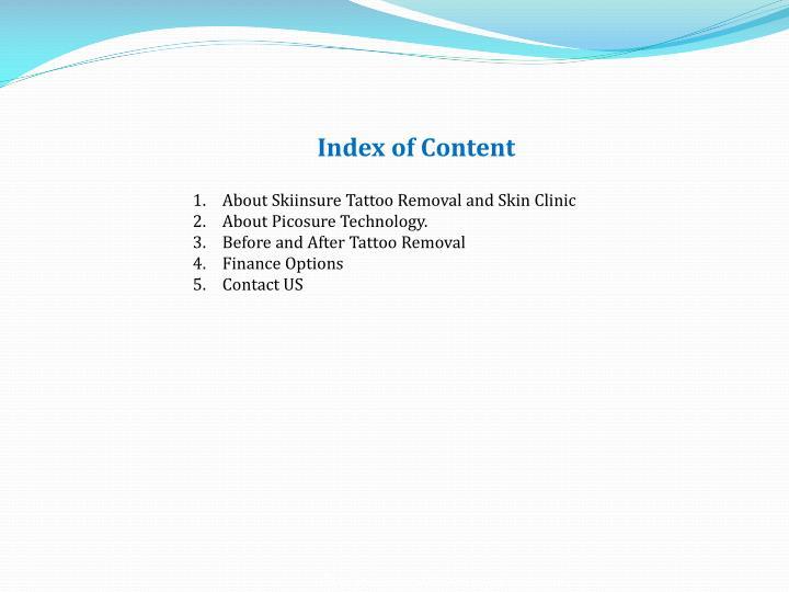Index of Content