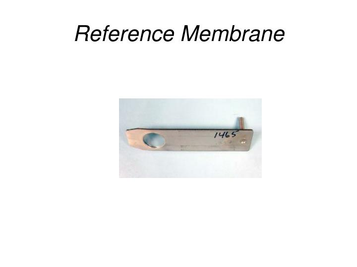 Reference membrane