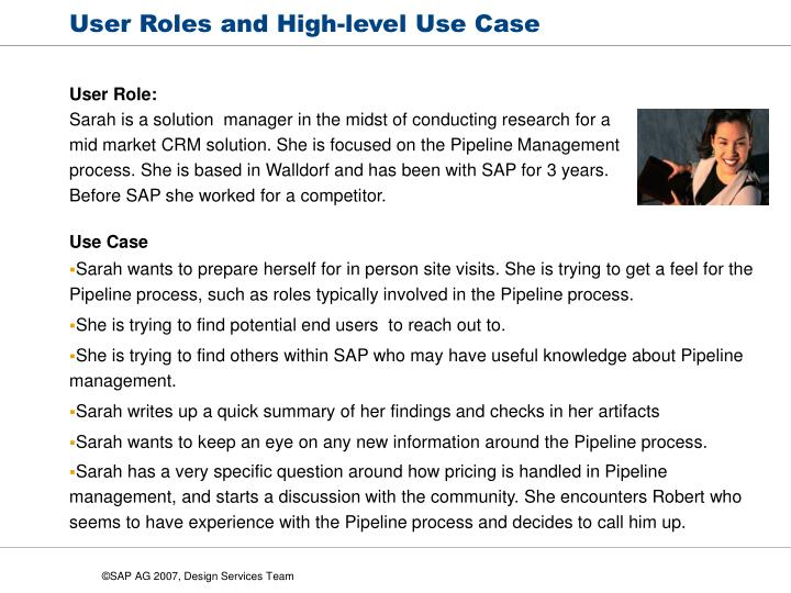 User Roles and High-level Use Case