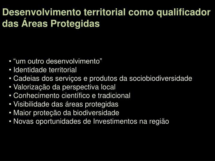 Desenvolvimento territorial como qualificador
