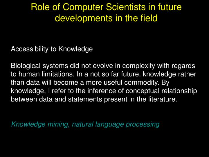 Accessibility to Knowledge
