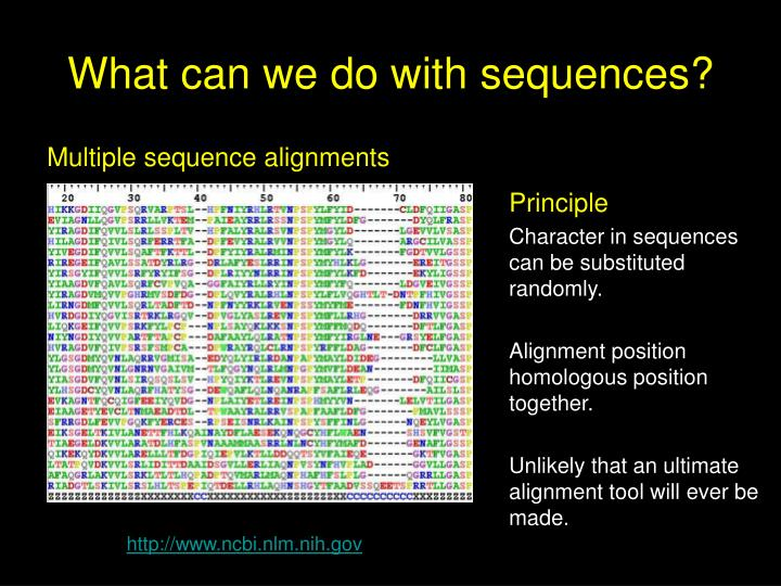 What can we do with sequences?