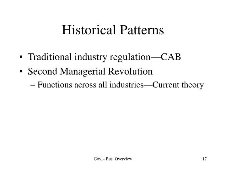 Historical Patterns