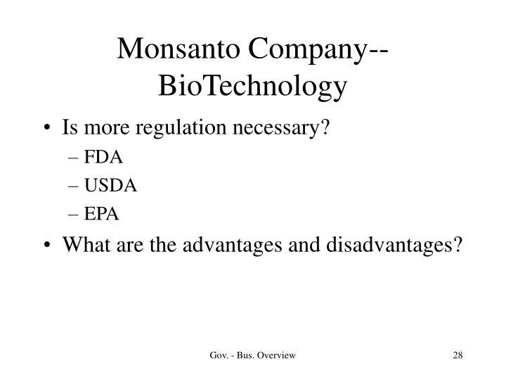 Monsanto Company--BioTechnology