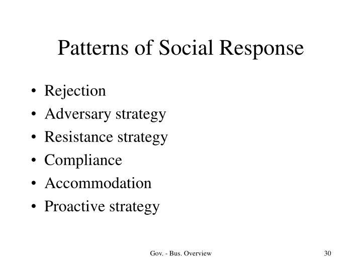 Patterns of Social Response