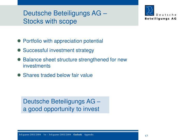 Deutsche Beteiligungs AG –