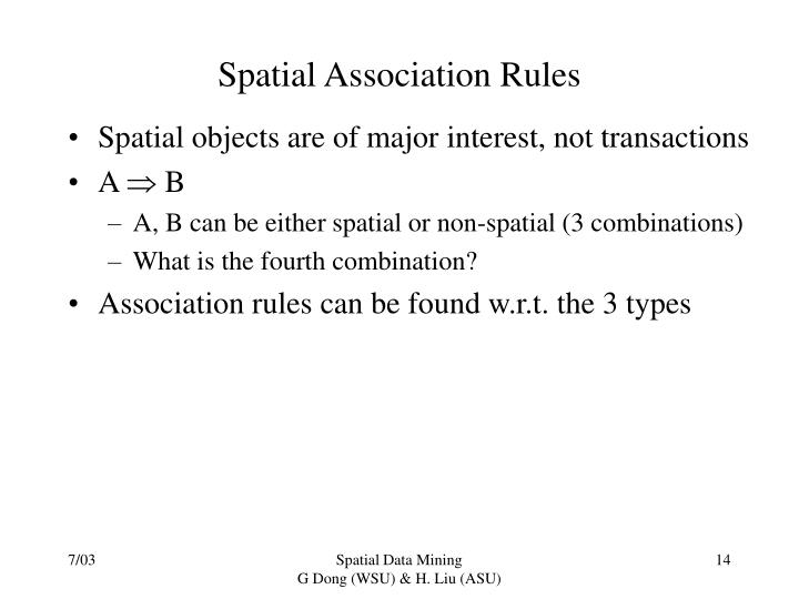 Spatial Association Rules