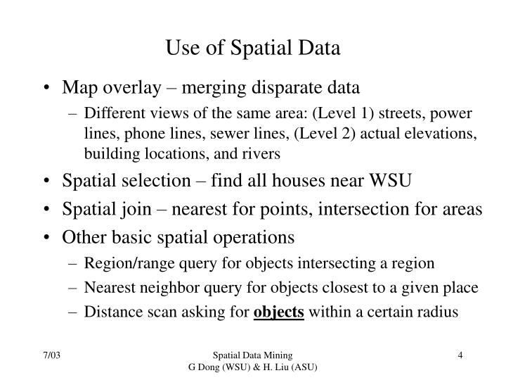 Use of Spatial Data