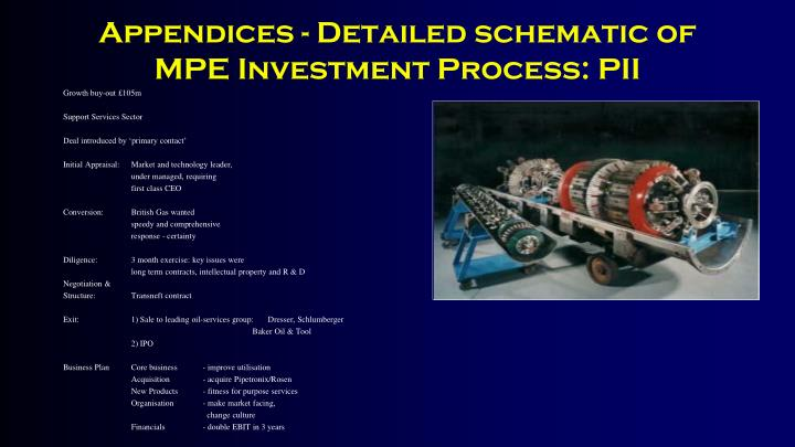 Appendices - Detailed schematic of MPE Investment Process: PII