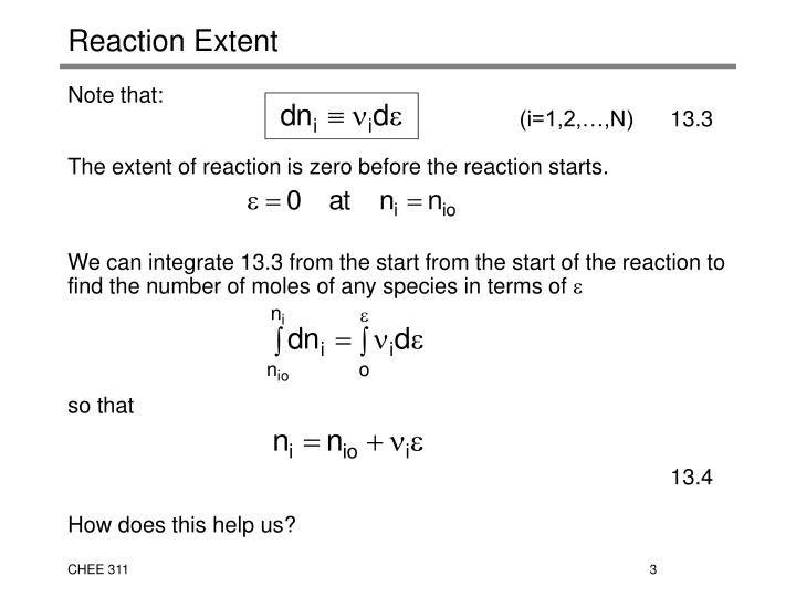 Reaction extent1
