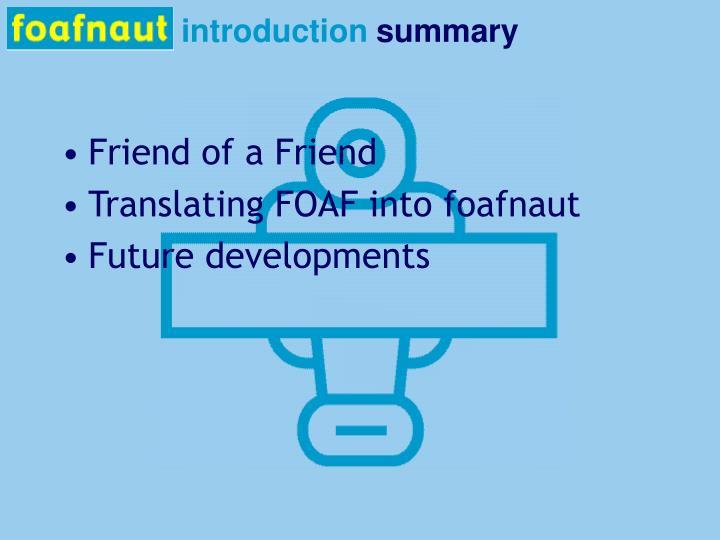 Introduction summary