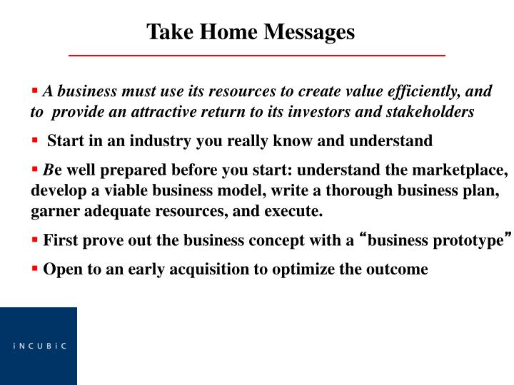 A business must use its resources to create value efficiently, and     to  provide an attractive return to its investors and stakeholders