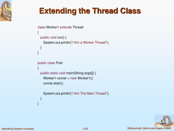 Extending the Thread Class