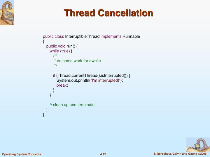 Thread Cancellation