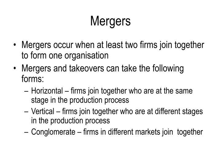 Mergers