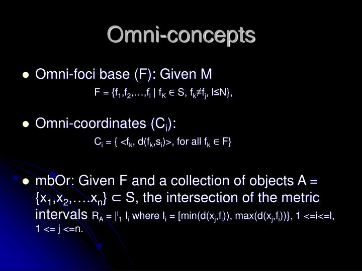 Omni-concepts