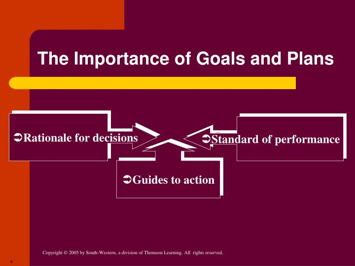 The Importance of Goals and Plans
