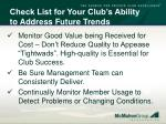 check list for your club s ability to address future trends2