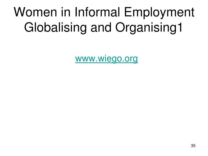 Women in Informal Employment