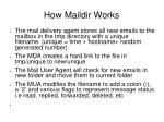 how maildir works