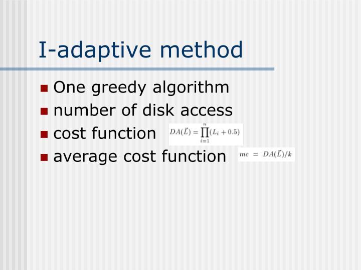 I-adaptive method