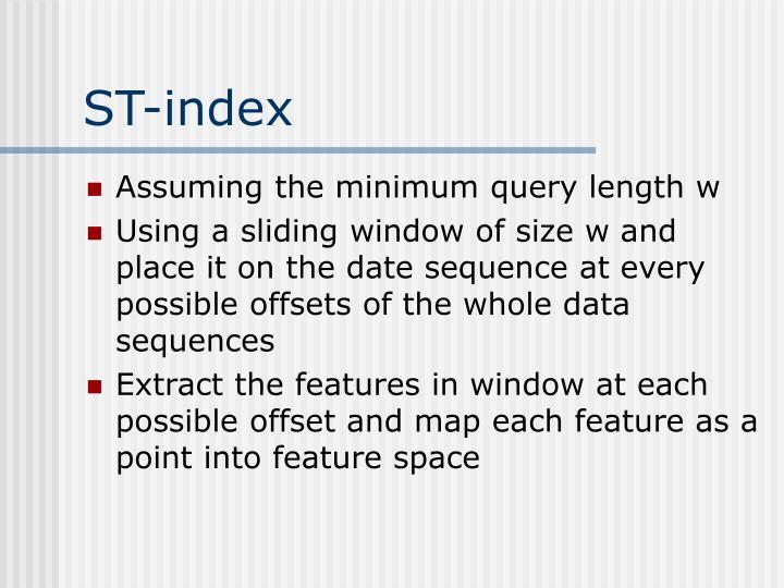 ST-index