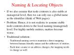 naming locating objects