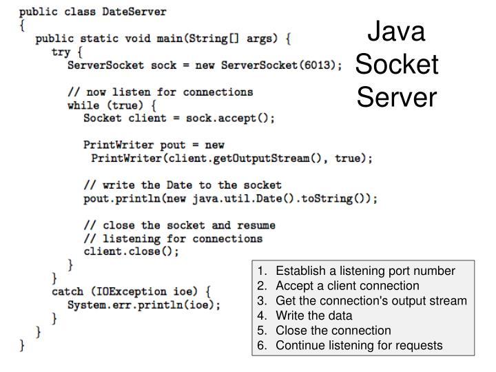Java Socket Server