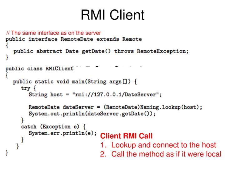 RMI Client