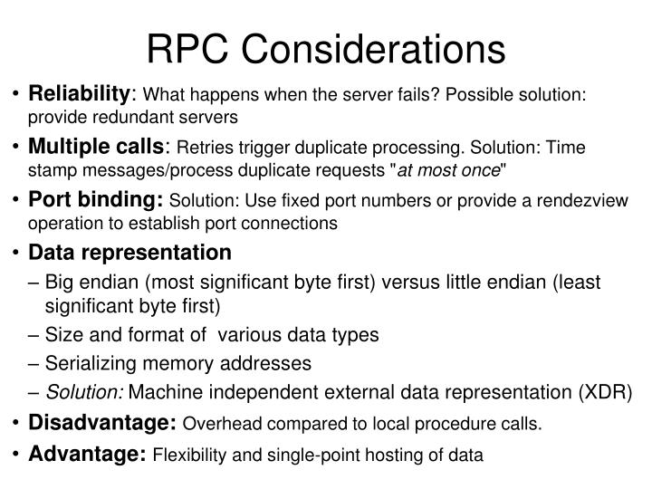 RPC Considerations
