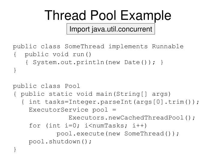 Thread Pool Example