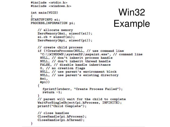 Win32 Example