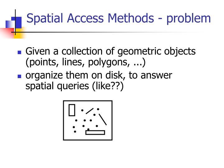 Spatial access methods problem