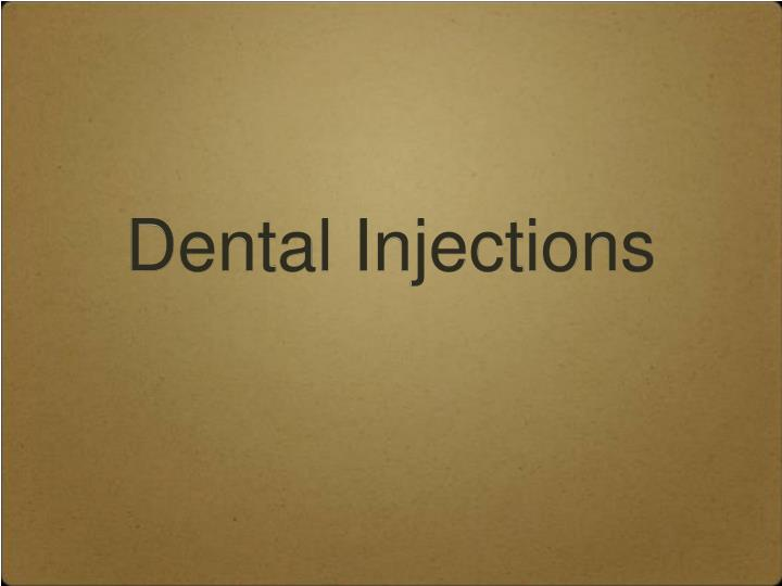 Dental Injections